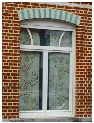 fen tre pvc 2 ouvrants et imposte avec double vitrage sur mesure et prix d 39 usine gefradis. Black Bedroom Furniture Sets. Home Design Ideas
