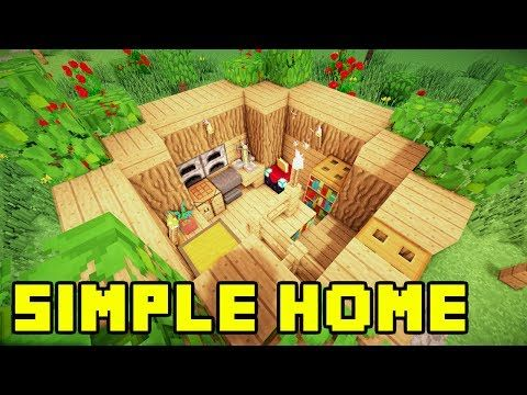 Minecraft easy simple survival house base home build for Easy homes to build