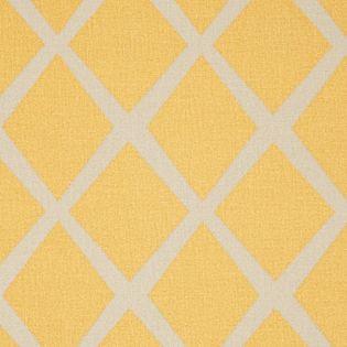 Mustard/Putty Diamond Fabric by Serena & Lily