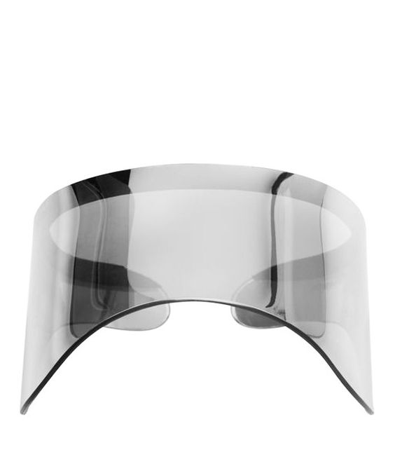 android-chic visor by Alexander McQueen