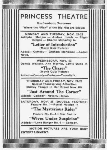 1938 Sidelines