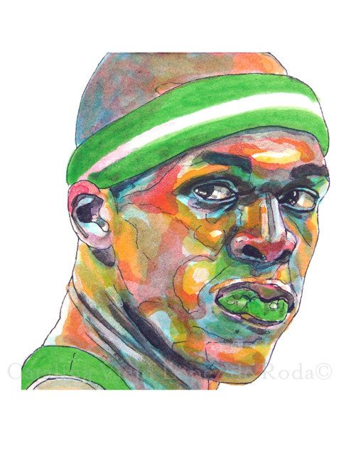 Boston Celtics Rajon Rondo Guard Painting by catalinaviejo on Etsy