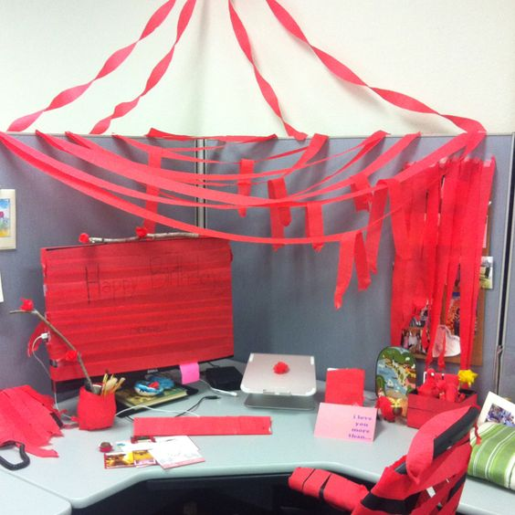 Birthday Surprises, Cubicles And Birthdays On Pinterest