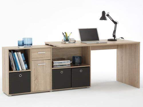 Schreibtisch Arbeitstisch Computertisch Eckschreibtisch Winkeltisch Eiche Weiss Eiche Amazon De K Burotisch Schreibtisch Winkelkombination Schreibtischideen