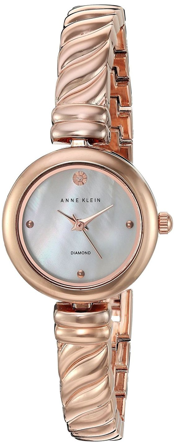Anne Klein Women's Quartz Metal and Alloy Dress Watch, Color:Rose Gold-Toned (Model: AK/2454MPRG) ** Visit the image link more details.