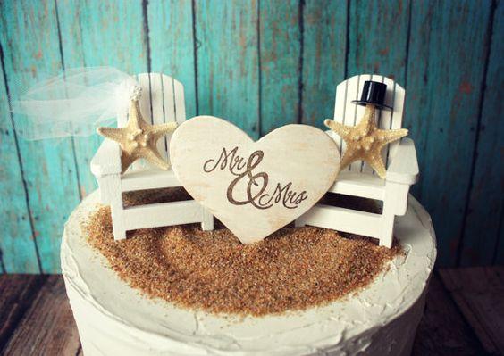 Adirondack beach wedding chairs-Adirondack chairs-wedding cake topper-beach chairs-beach wedding-destination wedding-beach-custom on Etsy, $39.00