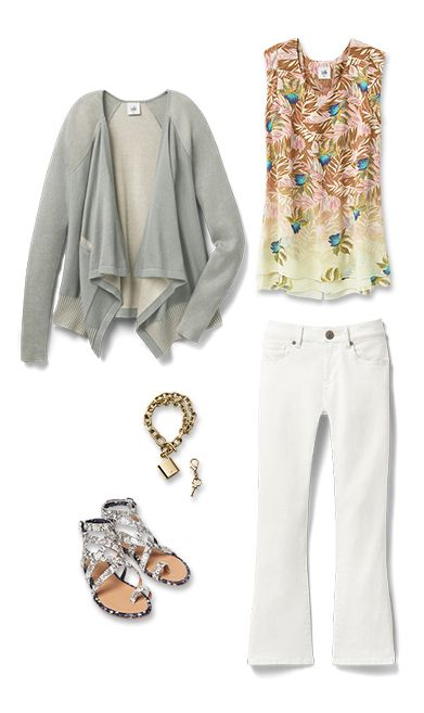 Check out five unique ways to mix and match the Pocket Cardigan with other cabi items!