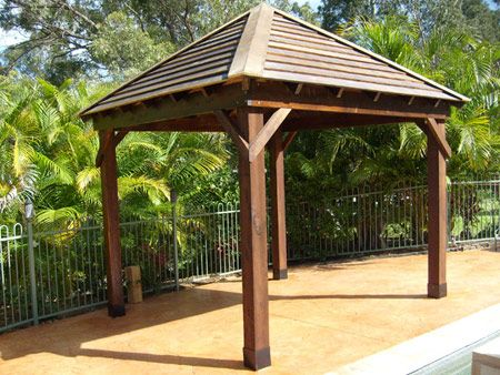 Free easy gazebo plans rectangular gazebo plans free 5 for Simple gazebo plans
