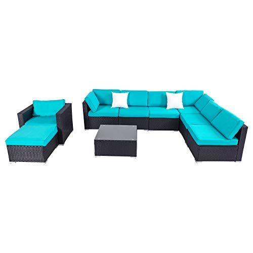 Check This Kinbor 9 Piece Outdoor Garden Furniture Sofa Ottoman