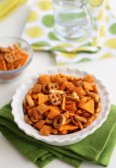 Mexi Chex Mix  The curry one looks great!