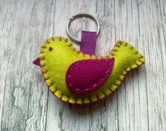 Clover keychain good luck keychain Four leaf clover by DusiCrafts