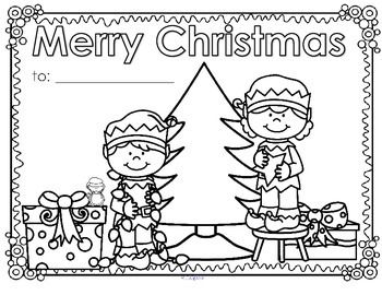 FREE*** Christmas posters or greeting cards to decorate, color and ...