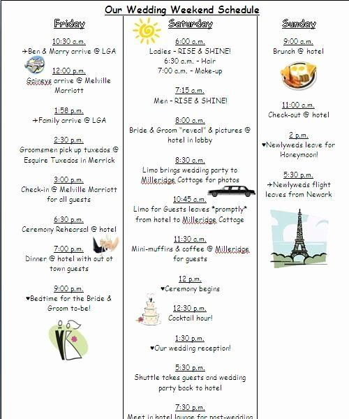 Wedding Weekend Itinerary Template Free Lovely The 25 Best Wedding Timeline Template Ideas On Pi Wedding Day Timeline Wedding Weekend Wedding Weekend Itinerary