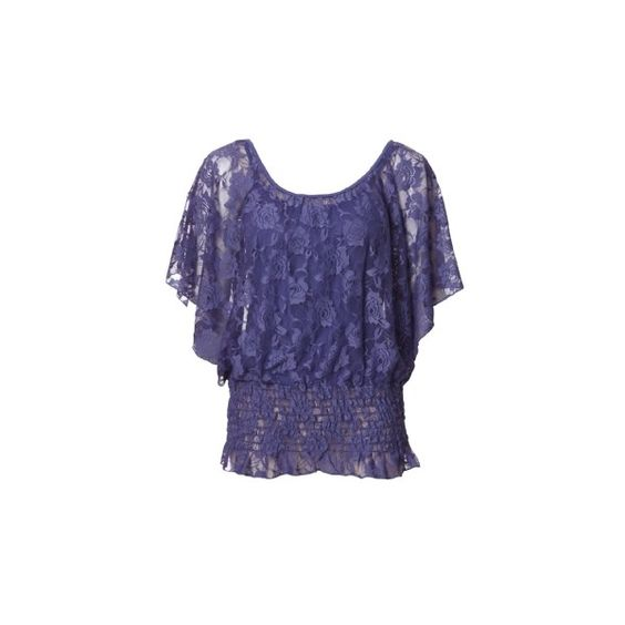 Kismet lace top ($35) found on Polyvore