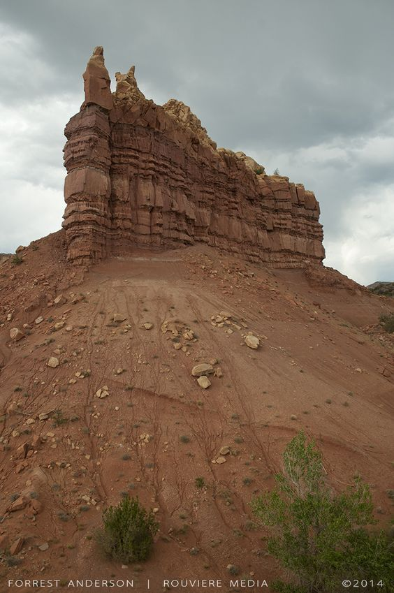 Rock formation in Colorado. Photo by Forrest Anderson. Digital version or fine art print available at rouviere.com.