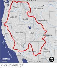 The Great Western Loop-Pacific Crest Trail, Pacific Northwest Trail, Arizona Trail- 6875 miles.