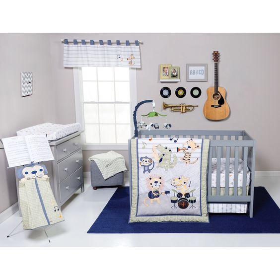 Trend Lab Safari Rock Band 6-piece Crib Bedding Set