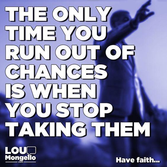 The only time you run out of chances is when you stop taking them. Have faith... #entrepreneur #entrepreneurs #entrepreneurlife #motivation #inspiring #inspirational #disney #solopreneur #positive #positivity #motivational #quotes #disneyworld #waltdisneyworld