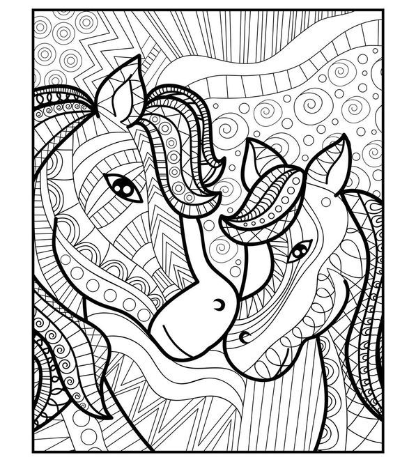 Amazon Com Zendoodle Coloring Baby Animals Adorable Critters To Color And Display 9781250 Horse Coloring Pages Zoo Animal Coloring Pages Zoo Coloring Pages