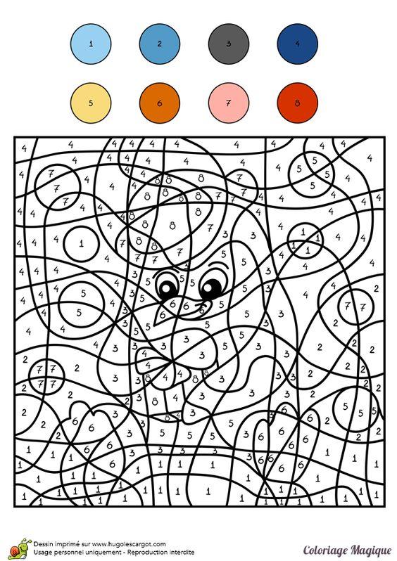 Coloriage magique cm1 pingouin color by number for - Coloriage magique grammaire cm1 ...