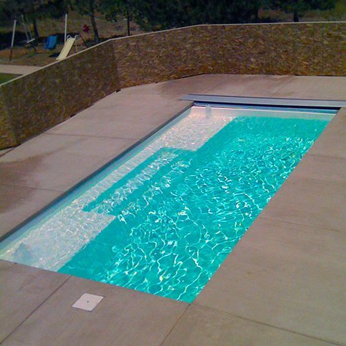 The Broadway Fiberglass Pool With Horizontal Layout Small Pool Design Fiberglass Pools Lap Pools Backyard