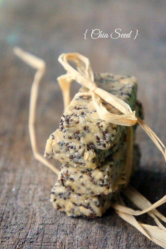 Barres protéinées aux graines de Chia et beurre de cacahuète