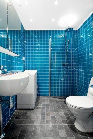 Blue bathroom tile like an oasis bathroom tiling ideas pinterest blue bathrooms blue Normal bathroom tiles design
