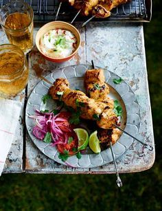 Chicken tikka kebabs from the Hairy Bikers, yummy! http://www.sainsburysmagazine.co.uk/recipes/mains/chicken-and-game-2/item/chicken-tikka-kebabs