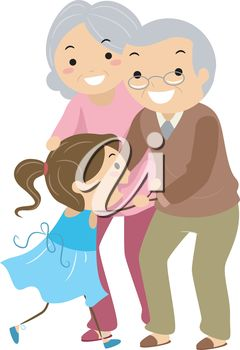 Grandparents Day Clipart - Paper Grandpa with Cane | Grandparents ...