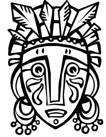 African Tribal Mask Template