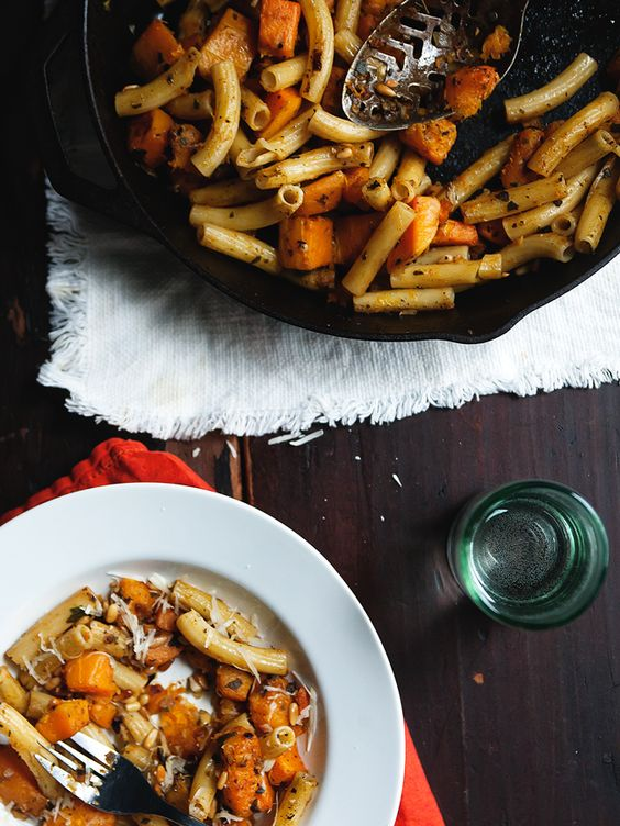 Pasta with Butternut Squash, Sage, and Pine Nuts » The Tart Tart # ...
