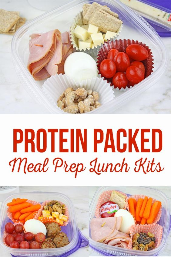 Protein Packed Meal Prep Lunch Kits- The Crafting Chicks
