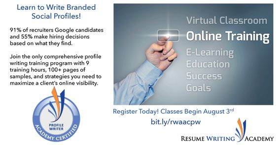 SOCIAL MEDIA PROFILE WRITING TRAINING \ CERTIFICATION (ACPW) The - resume writing classes