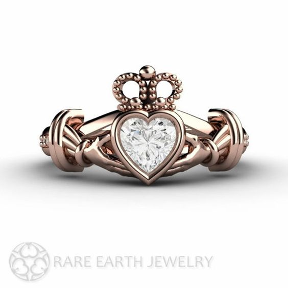 Hey, I found this really awesome Etsy listing at https://www.etsy.com/listing/186344248/diamond-claddagh-ring-irish-engagement