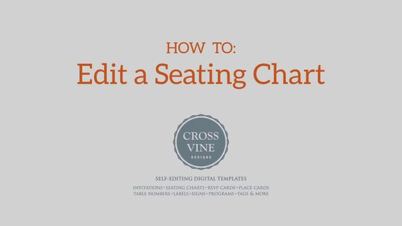 Learn how to edit a PDF seating chart template from Crossvine