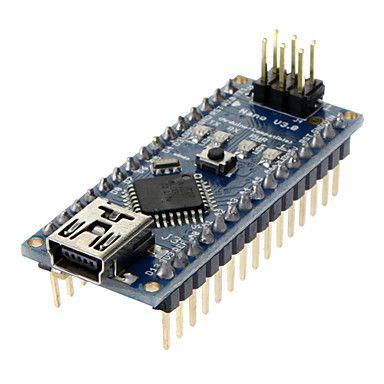 nano v3.0 AVR Atmega328 placa do módulo p-20AU e cabo usb para arduino azul + preto – BRL R$ 33,58