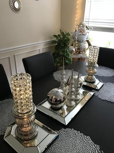 12 Square Beveled Mirror Centerpiece By Valerie Qvc Com Dining Room Table Decor Dinning Room Table Decor Dining Room Table Centerpieces
