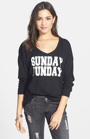 Free shipping and returns on PST by Project Social T 'Sunday Funday' Graphic Tee (Juniors) at Nordstrom.com. What to wear? You've got one day down with a totally relaxed, long-sleeve V-neck tee. (We love it for laid-back weekdays, too.)