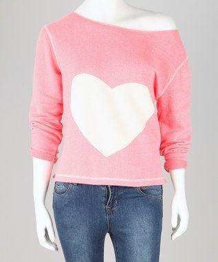 Pink Sweetheart Off-the-Shoulder Jumper