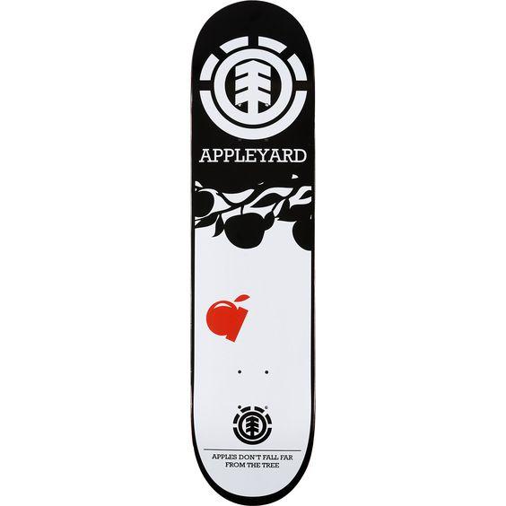 "Balance Board Zumiez: Element Appleyard Tree 7.62"" Featherlight Skateboard Deck"