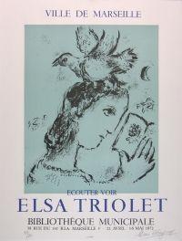 Marc Chagall: ELSA TRIOLET, 1972