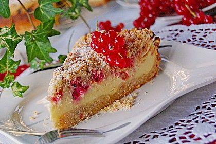 Johannisbeer  - Käsekuchen mit Streusel, ein raffiniertes Rezept aus der Kategorie Kuchen. Bewertungen: 118. Durchschnitt: Ø 4,7.
