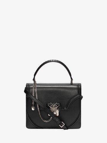 Acquista Borsa Flower In Vitello Con Catena da Donna sull'online store ufficiale dell'iconico designer Alexander McQueen.