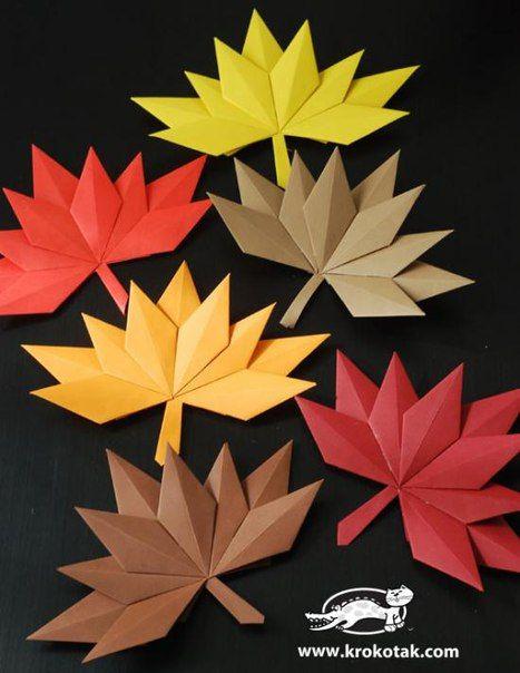 DIY Origami Fall Leaf Paper Wreath - The Perfect DIY: