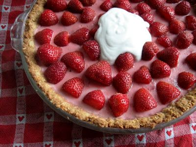 Fresh Strawberry Coconut Custard Pie - Gluten free, sugar free