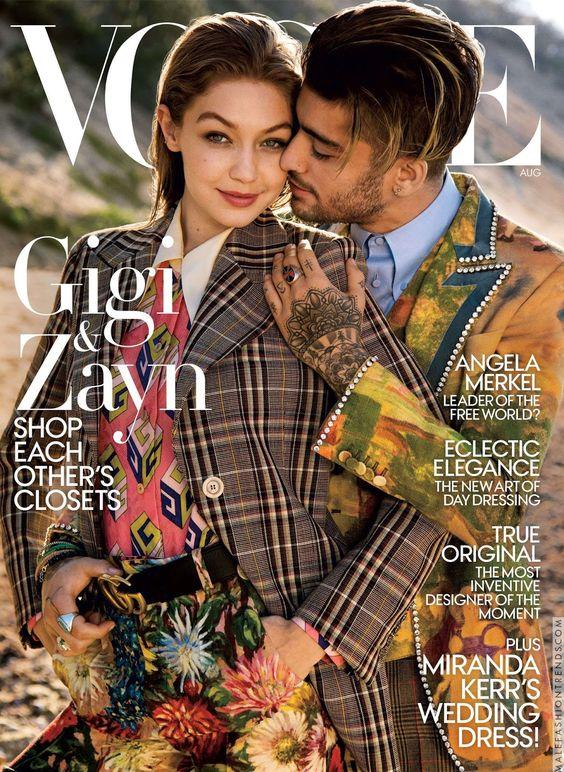 Zayn malik y Gigi Hadid para Vogue USA por Inez & Vinoodh