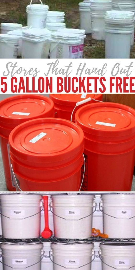 Stores That Hand Out 5 Gallon Buckets Free Emergency Preparedness Kit Prepper Survival Emergency Preparation