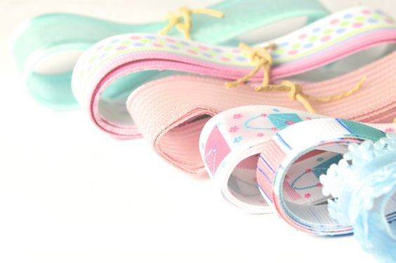 Grosgrain and nylon Ribbon Trim set - Pink Gold Brown | 7 Yards | Todo Papel | Color Lace Paper Doilies & Pretty Stationery