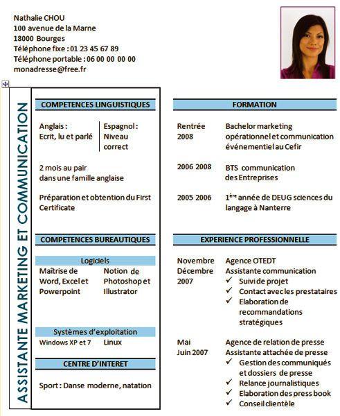 Bien-aimé CV Emploi saisonnier | Éducation | Pinterest IJ56