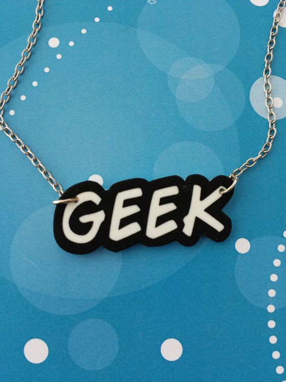 Geek Word necklace by QuirkyBerty on Etsy, £4.00